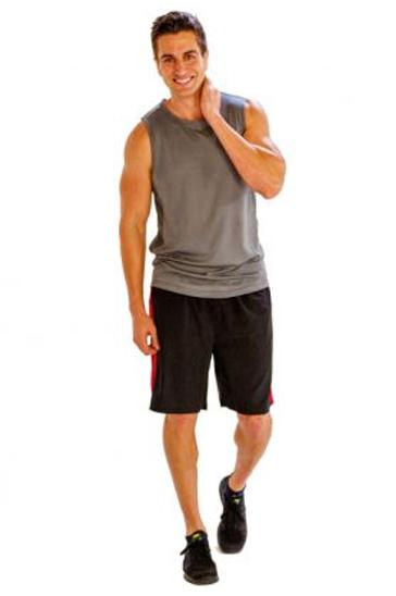 Grey and black smart men's workout set