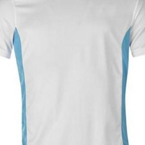 White and aqua blue men's t-shirts
