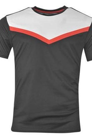 Black tri colored men's t-shirts