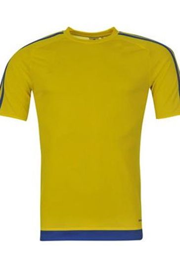 Bright yellow and blue men's t-shirts