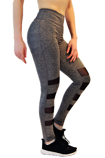 Smart Grey and Black Leggings Wholesale