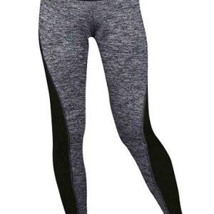 Grey and Black Dual Panel Gym Leggings Wholesale