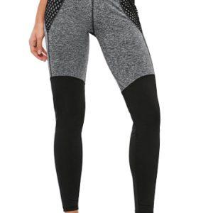 Grey Black Mesh Pocket Gym Tights Wholesale