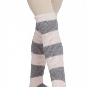 Grey and Powder Pink Broad Stripe Legwarmers Manufacturer
