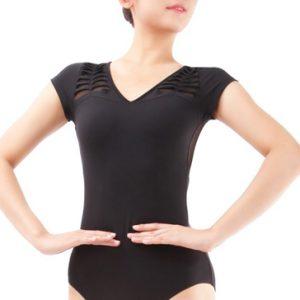 Swan Black Gymnastic and Skater Bodycon Set Manufacturer