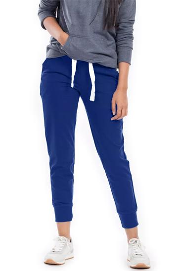 Royal blue women's jogger pants