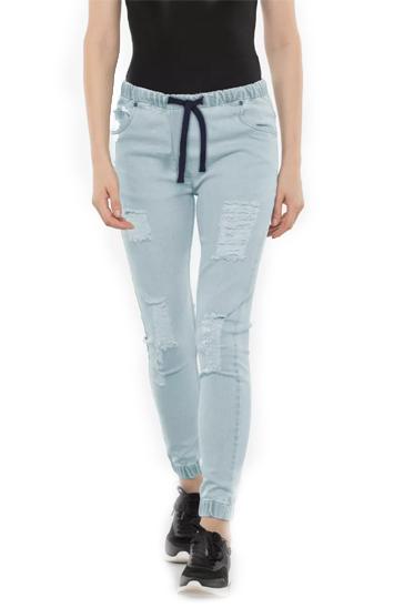 Sky blue women's jogger pants