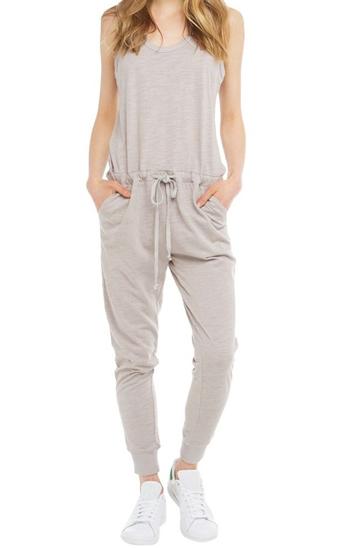 Faded grey women's jumpsuit