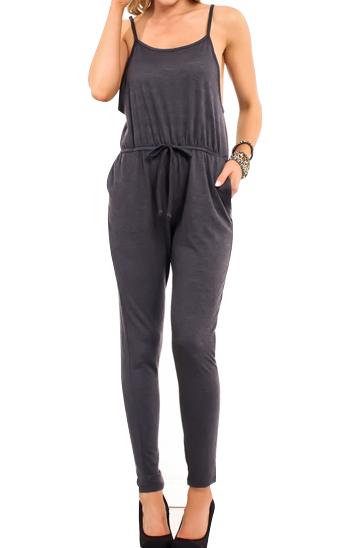 Dark grey women's jumpsuit