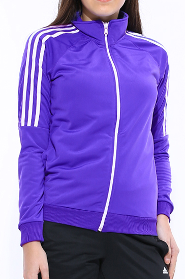 Light violet and white women's sports suits