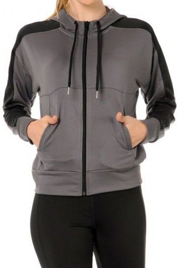 Grey and black women's sports suits
