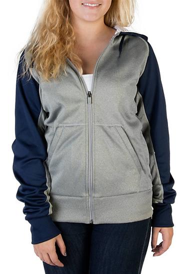 Women's grey and blue sweatshirt
