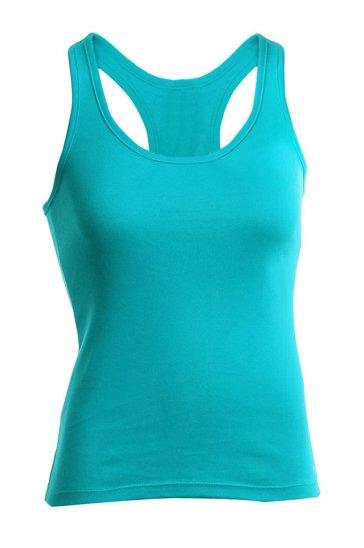 Bright aqua blue women's tank top