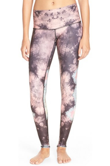 Peach and Grey Tie and Dye Leggings Manufacturer